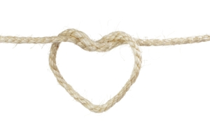 heart from sisal rope
