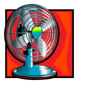 retro wind fan clip art